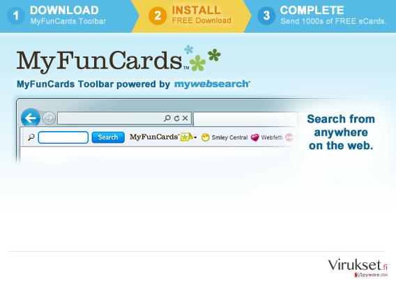 MyFunCards Toolbar kuvankaappaus
