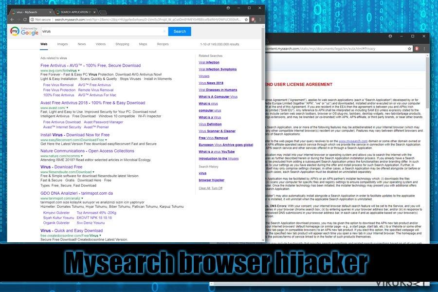Mysearch selaimen kaappaaja