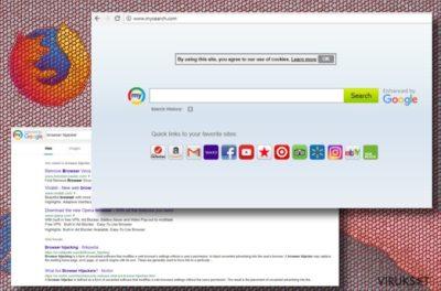 Mysearch uudelleenohjaus virus