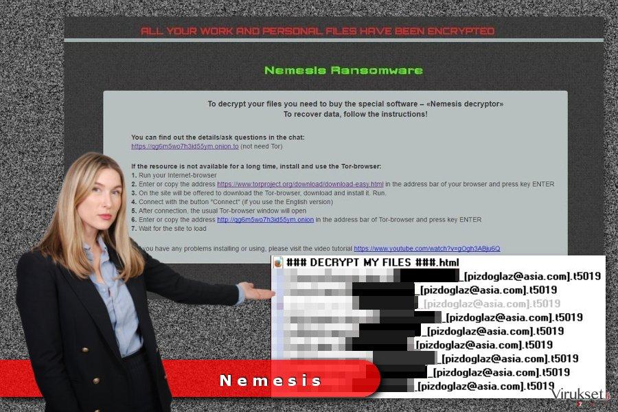 Nemesis lunnasohjelma viruksen esimerkki
