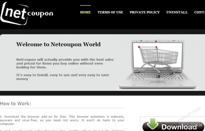 NetCoupon virus kuvankaappaus