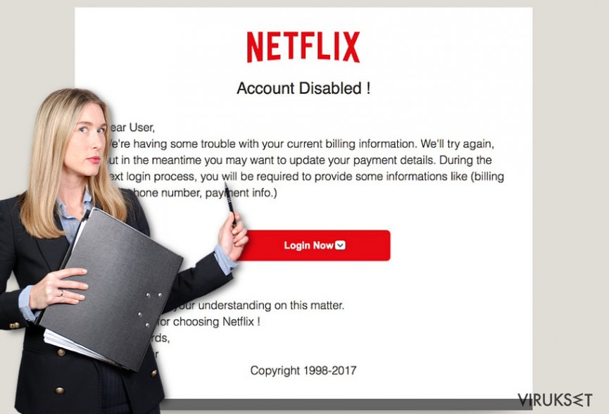 Netflix.com pop-up ads