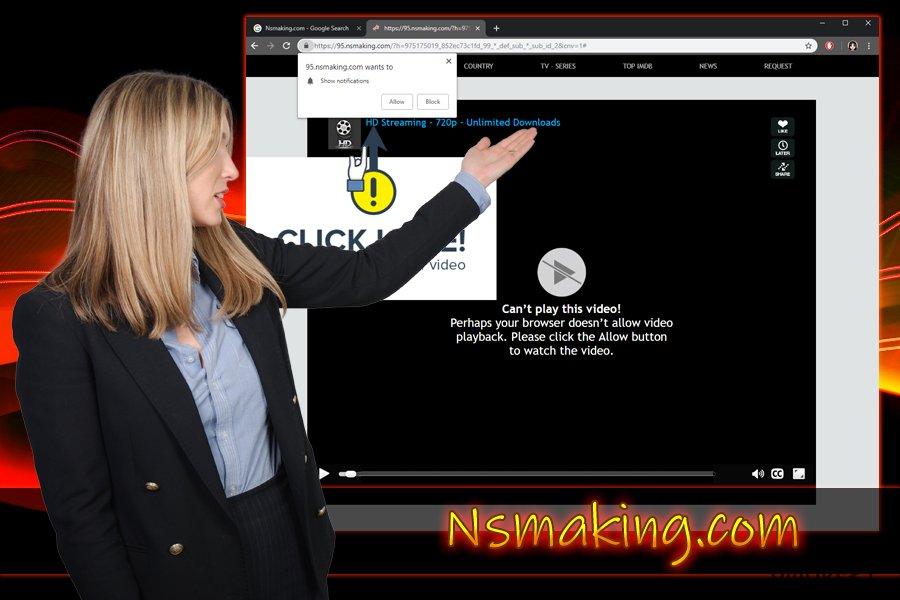 Nsmaking.com push-ilmoitus virus
