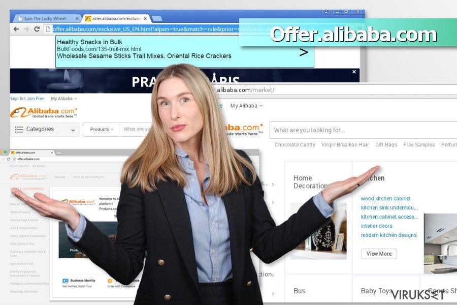 Offer.alibaba.com mainokset kuvankaappaus
