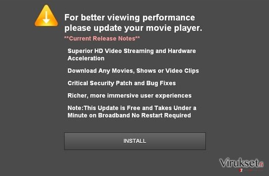 Updateplayers.com pop-up virus kuvankaappaus