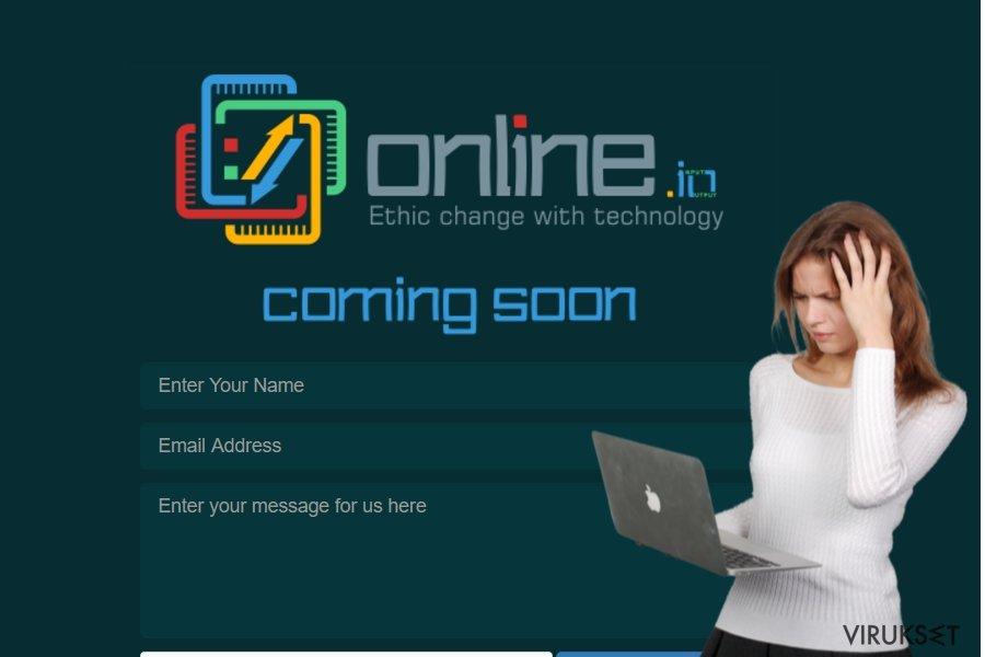 Online.io virus kuvankaappaus