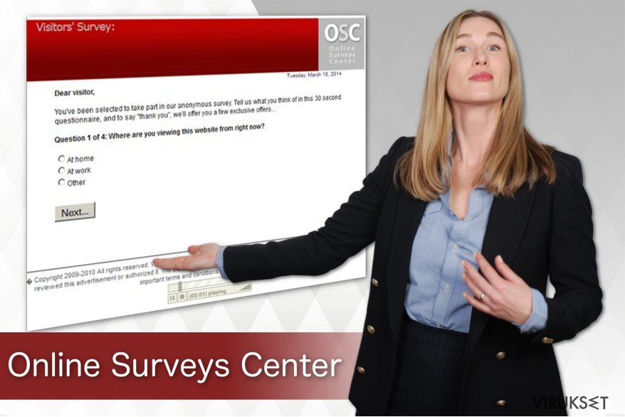 Online Surveys Center virus kuvankaappaus