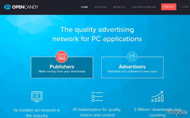 OpenCandy mainokset kuvankaappaus