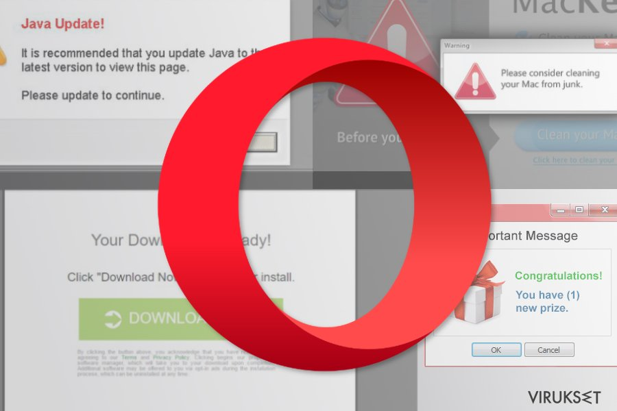 Opera uudelleenohjaus virus