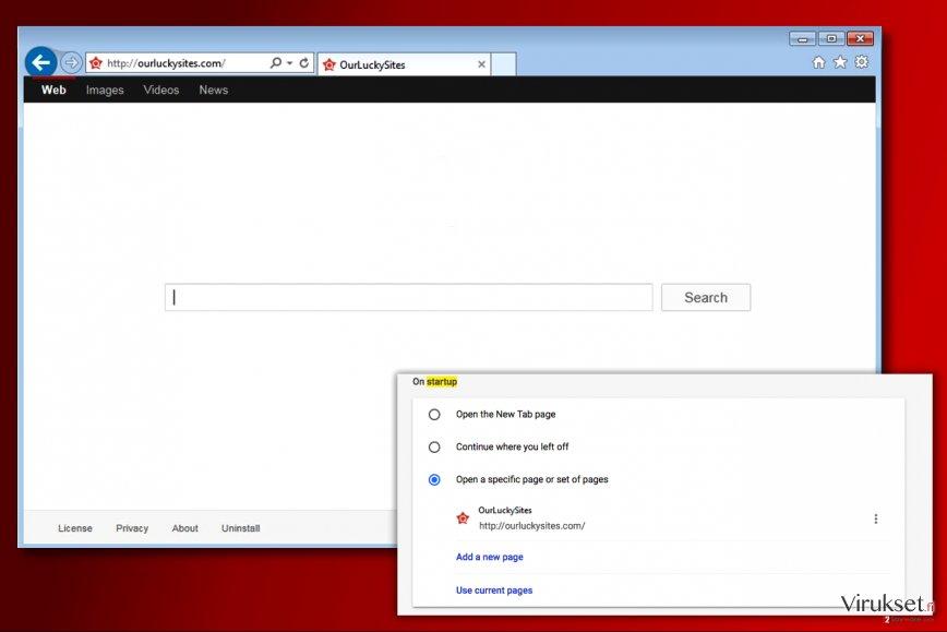 Ourluckysites.com virus kuvankaappaus