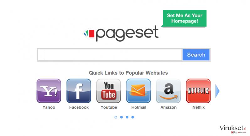 Pageset.com virus kuvankaappaus
