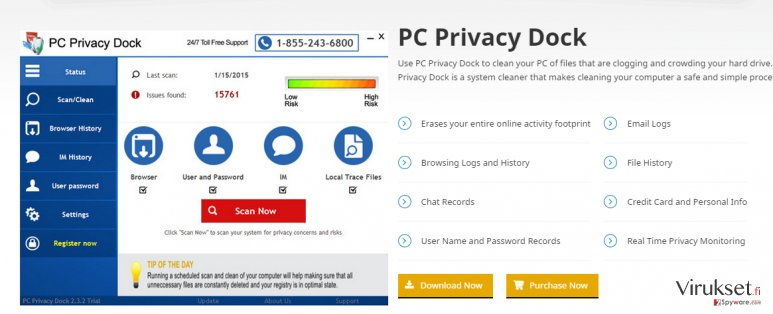 PC Privacy Dock kuvankaappaus