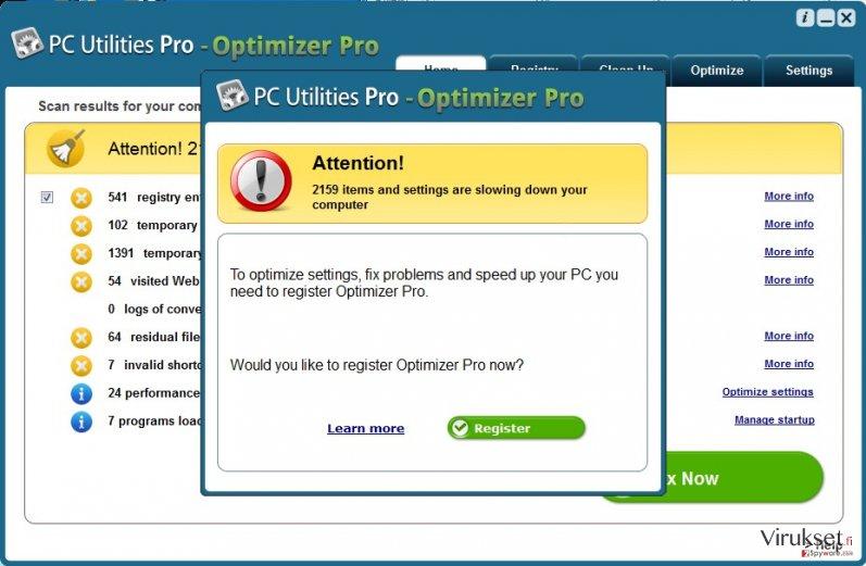 PC Utilities Pro – Optimizer Pro kuvankaappaus