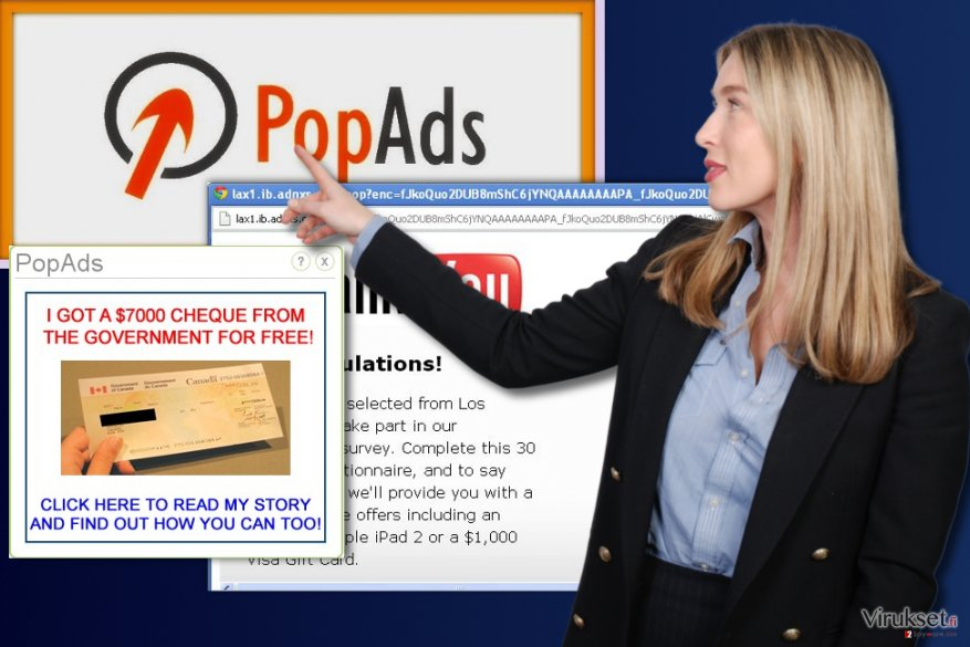 PopAds mainokset