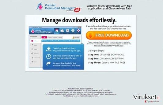 Premier Download Manager Työkalupalkki kuvankaappaus