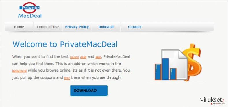 PriveteMacDeal mainokset kuvankaappaus