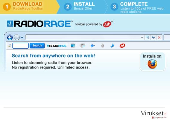 RadioRage Työkalupalkki kuvankaappaus