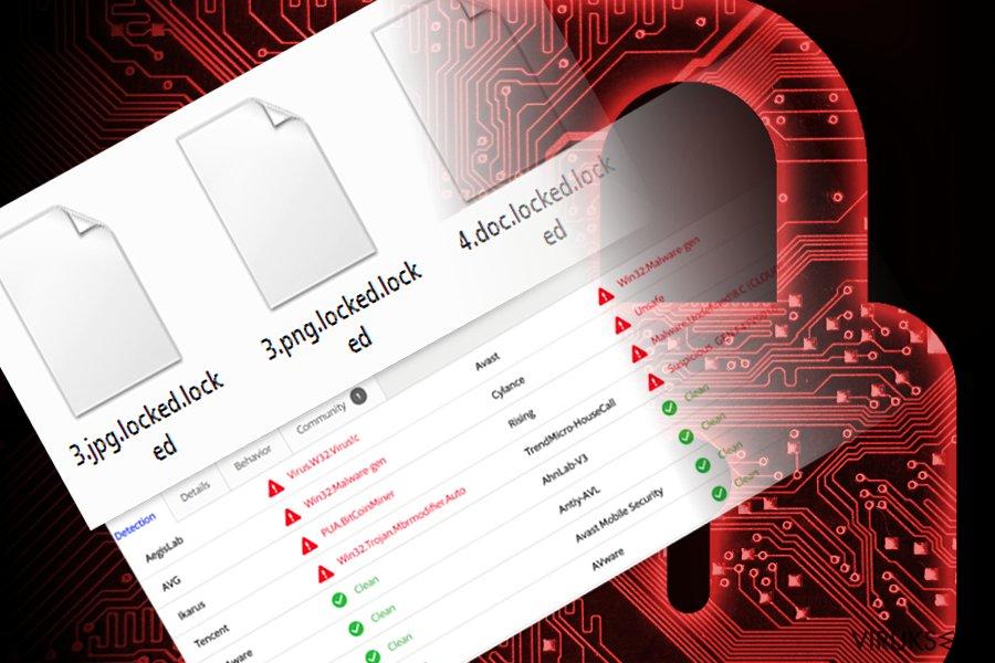 Kuva, joka näyttää tiedostot, jotka RedBoot virus on salannut