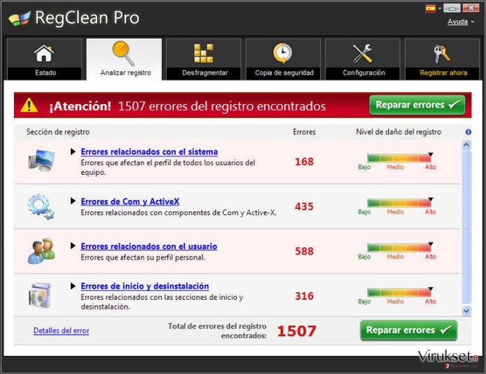 RegClean Pro kuvankaappaus