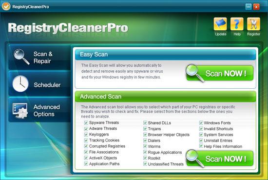 Registry Cleaner Pro kuvankaappaus