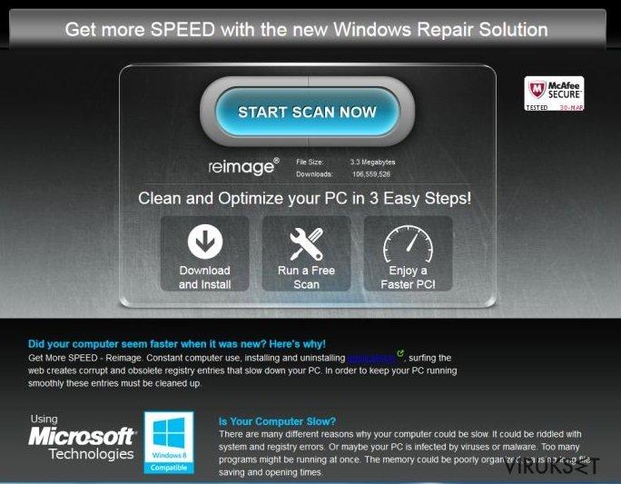 ReimagePlus.com mainokset kuvankaappaus