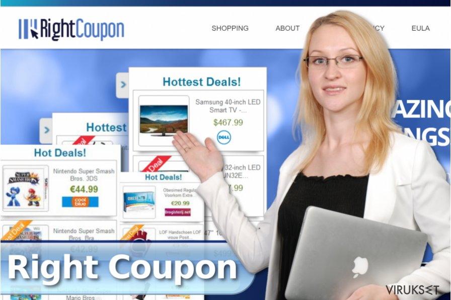 Right Coupon pop-up mainokset kuvankaappaus