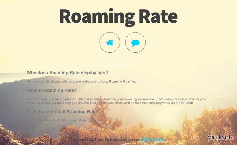 Roaming Rate mainokset kuvankaappaus