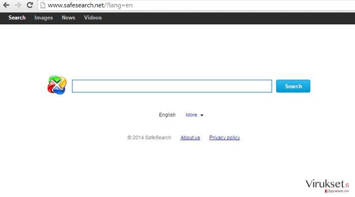 SafeSearch.net uudelleenohjaus kuvankaappaus