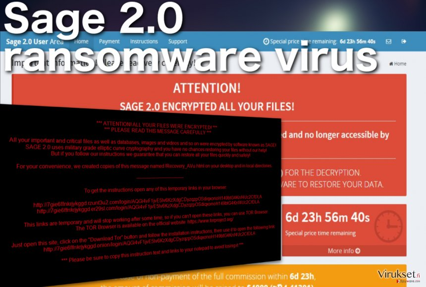 Sage 2.0 lunnasohjelma virus kuvankaappaus