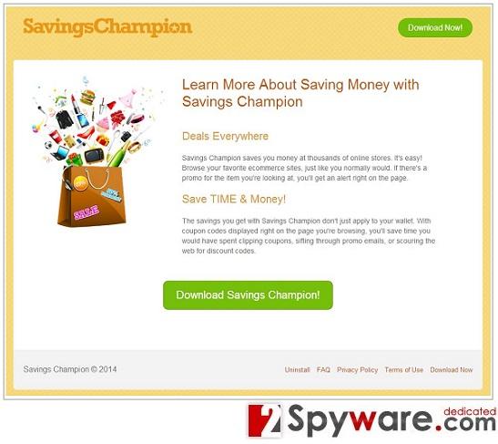 Savings Champion mainokset kuvankaappaus