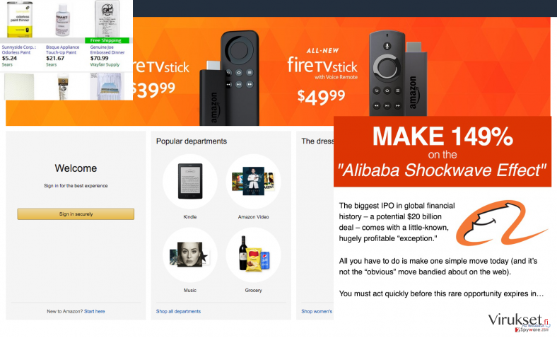 Screen maker ads on commercial website
