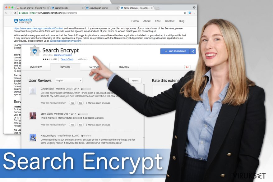 Kuva Search Encrypt hakukoneesta