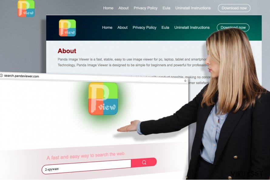 Kuvankaappaukset Search.pandaviewer.com virallisesta kotisivusta