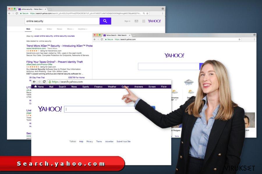 search.yahoo.com uudelleenohjaus kuvankaappaus