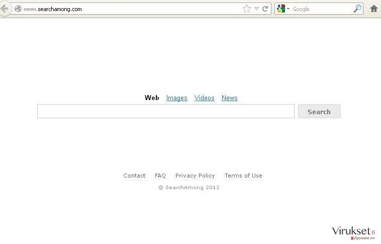 SearchAmong.com virus kuvankaappaus