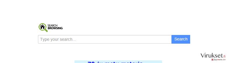 searchbrowsing.com uudelleenohjaus kuvankaappaus