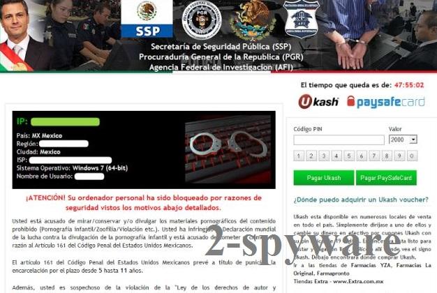 Secretaría de Seguridad Pública virus kuvankaappaus