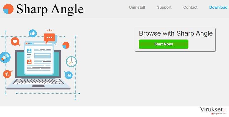 Sharp Angle mainokset kuvankaappaus