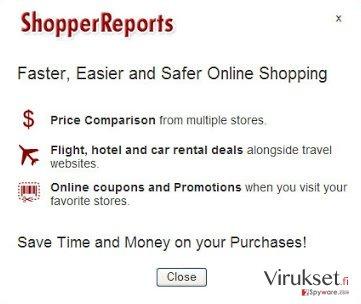 ShopperReports mainosohjelma kuvankaappaus