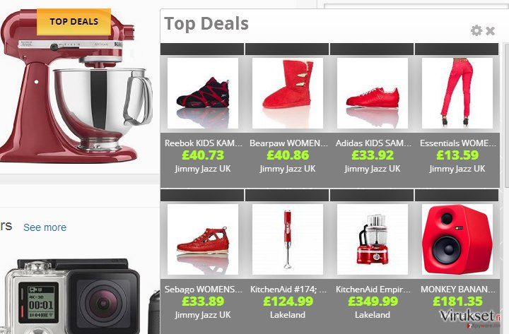 Shopping Blast mainokset kuvankaappaus