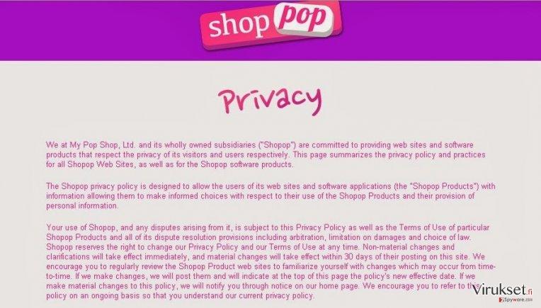 Shopop virus kuvankaappaus