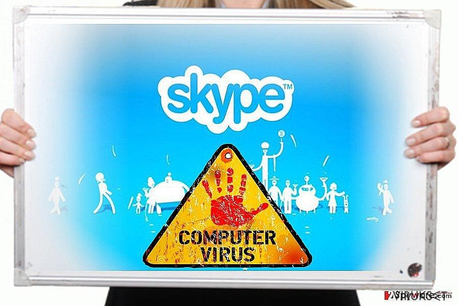 Skype virus kuvankaappaus