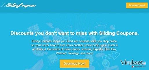 Sliding Coupons mainokset kuvankaappaus