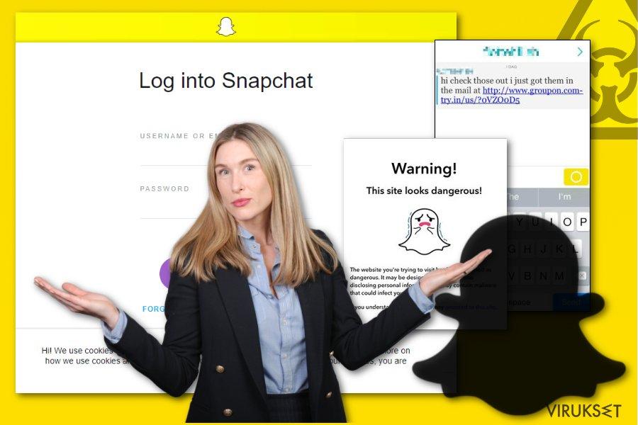 Snapchat haittaohjelman kuva