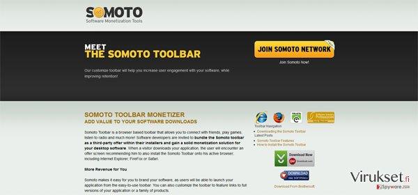 Somoto Toolbar kuvankaappaus