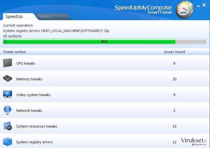 SpeedUpMyComputer kuvankaappaus