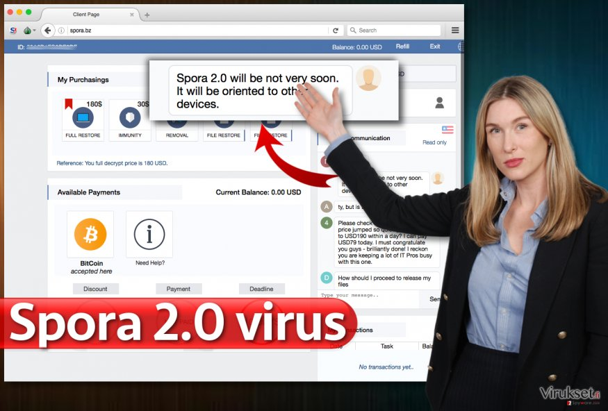 Spora 2.0 virus