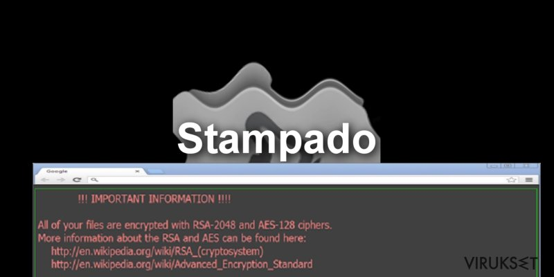 The screenshot of Stampado virus