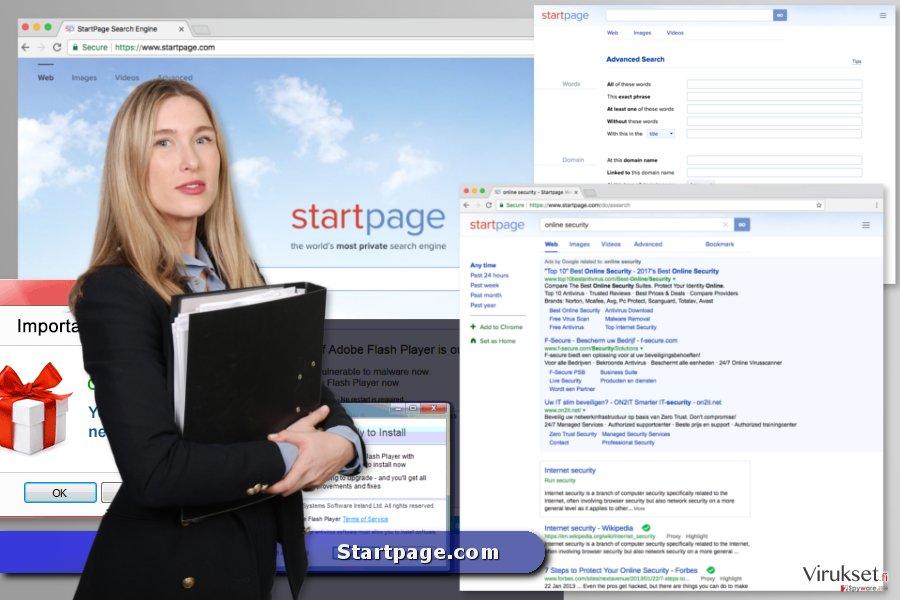 Startpage.com virus kuvankaappaus