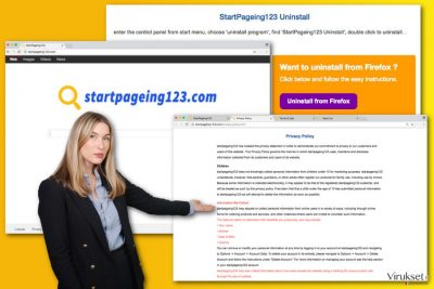StartPageing123.com viruksen kuva